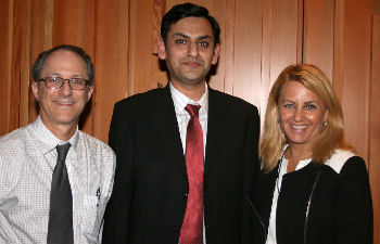 Left to Right: Dr. Michael Rotblatt, Dr. Muhammad Ahmed Saeed and Dr. Soma Wali, ACP Governor for S. California Region I