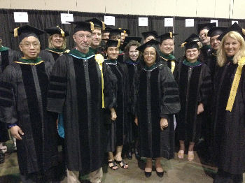 Dr. Debra L. Stottlemyer (2nd from left), with colleagues at ACP Convocation Ceremony.