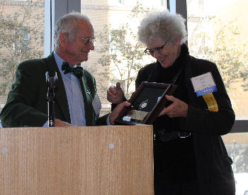 Dr. Faith Fitzgerald receiving Laureate Award