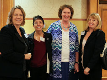 (L-->R): Deb Stottlemyer, Debra Craig, Ingrid Blomquist, Pam Anderson Yamanishi (our new treasurer)