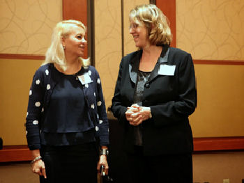 Dr. Soma Wali, Governor Region I with Deb Stottlemyer