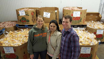 Marilyn Katz, Varidhi Nauriyal and Doug Olson at Foodshare