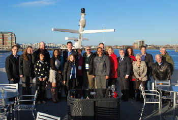 Group photo from Yacht Cruise Joint Reception in Boston