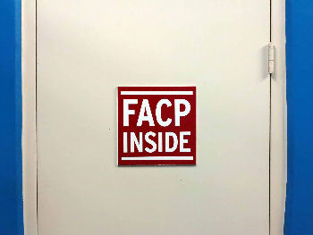 I saw this door in the parking garage of my hotel. It seems that Fellows of ACP are plentiful in Orlando and ready for duty even in storage closets.