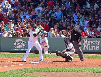 Ortiz at bat