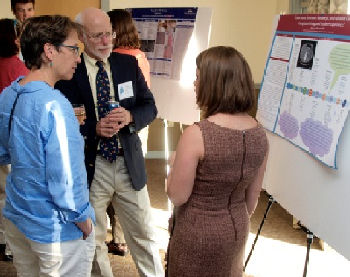ACP Associate Kaitlyn Ostrander discusses her findings with Rebecca Hemphill, MD, FACP and John Erickson, MD, FACP