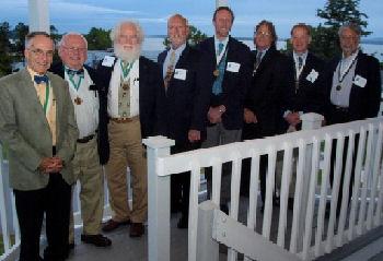 Maine Chapter Laureates - Roger Renfrew, MD, FACP, Ed Gilmore, MD, MACP, Richie Kahn, MD MACP, Rich Engel, MD, FACP, DougCouper, MD, MACP, Ted Sussman, MD, MACP, Steve Hayes, MD, FACP and Dan Morgenstern, MD, FACP