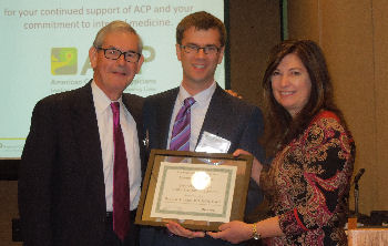 2014 Community Service Award, David R. Hilden, MD, MPH, FACP with David Williams, MD, MACP