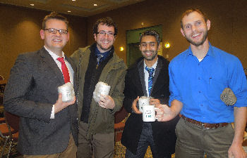 Doctor's Dilemma participants with ACP Mug- I think, therefore I.M.