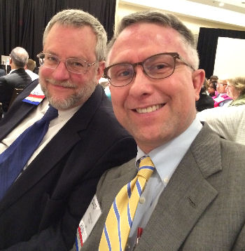Drs. Liebow and Bundrick at Leadership Day