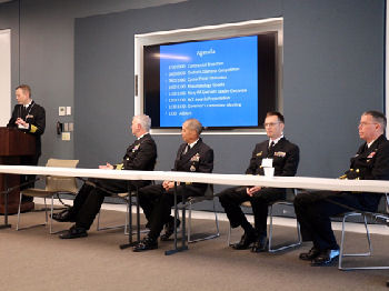 Panelists from L to R: CAPT Chris Culp, RADM Colin Chinn, CAPT John Gilstad, and CAPT Jeff Timby