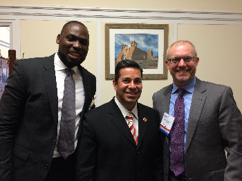 Dr. Tobore Kokoricha, Rep. Ben Ray Lujan, and Dr. Sam MacBride