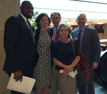 Drs. Tobore Kokoricha, Heather Brislen, Mike Kaufman, Cindy Arndell and Sam MacBride at Leadership Day