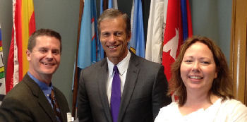 Rob Allison, Sen. John Thune, Kelly Stacy