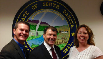 Rob Allison, Sen. Mike Rounds, Kelly Stacy
