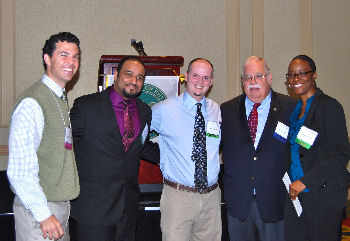 left to right is Drs. Steve Hegedus, Mohamed Hussein, Brent Hayden. Richard Lane, and Sonya Reid-Lawrence