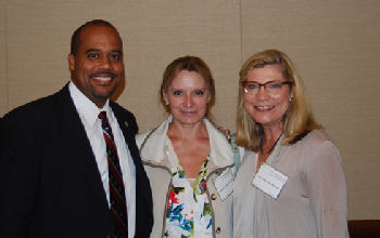 Drs. Ryan Mire (treasurer), Natasha Thompson, and Catherine Womack (council and photographer)