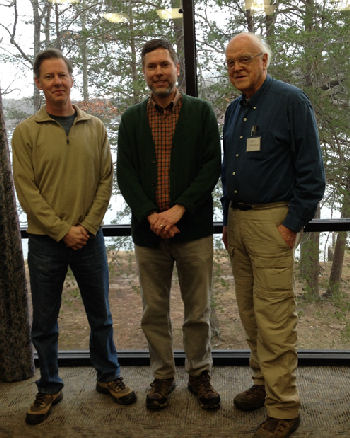 Dr. O'Dea (left) with Dr. Mark Anderson (center) and Dr. Clif Cleaveland his nominators.