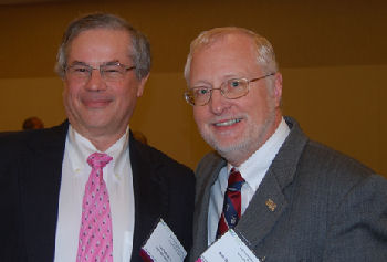 Dr. Fred Ralton (past Governor, past ACP president) and Dr. Ken Olive (immediate past Governor)