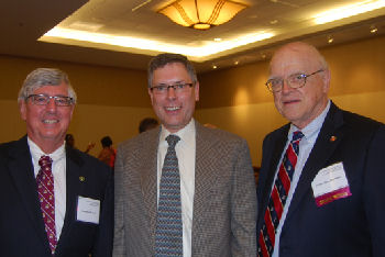Dr. Steve Miller (past Governor), Dr. Mark Anderson (Laureate Awardee), Dr. Clif Cleaveland (past Governor, past ACP president)
