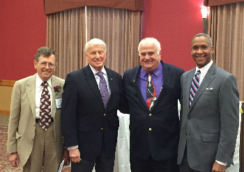 From Left to Right: ACP-WI Governor, Dr. Mark Belknap, FACP; Dr. Richard Dart, MACP; Dr. Cyril