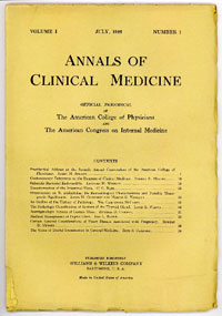 First Issue of Annals of Clinical Medicine