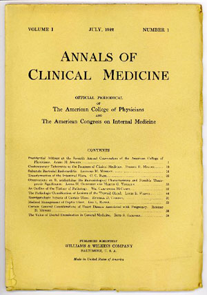 Annals of Clinical Medicine