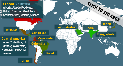 ACP International Chapter Map