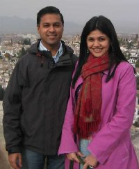 Dr. Nirav Shah and his wife, Nidhi