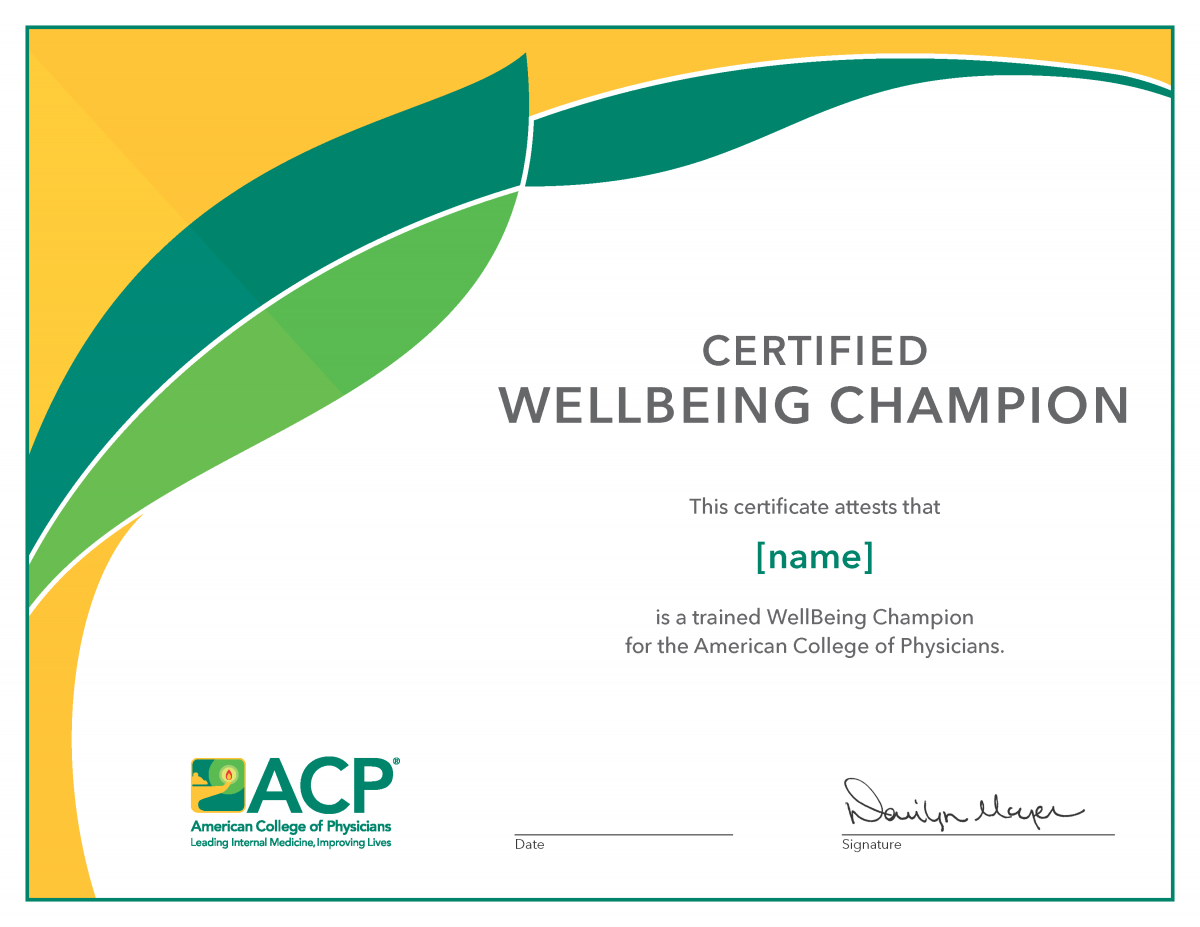 Well-being Champion Certificate